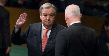 Guterres taking Oath of Office